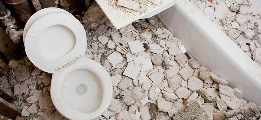 къртене на под на баня